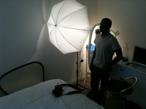 Andy came and did a shoot in my room once. The black guy in a white room jokes were plentiful.