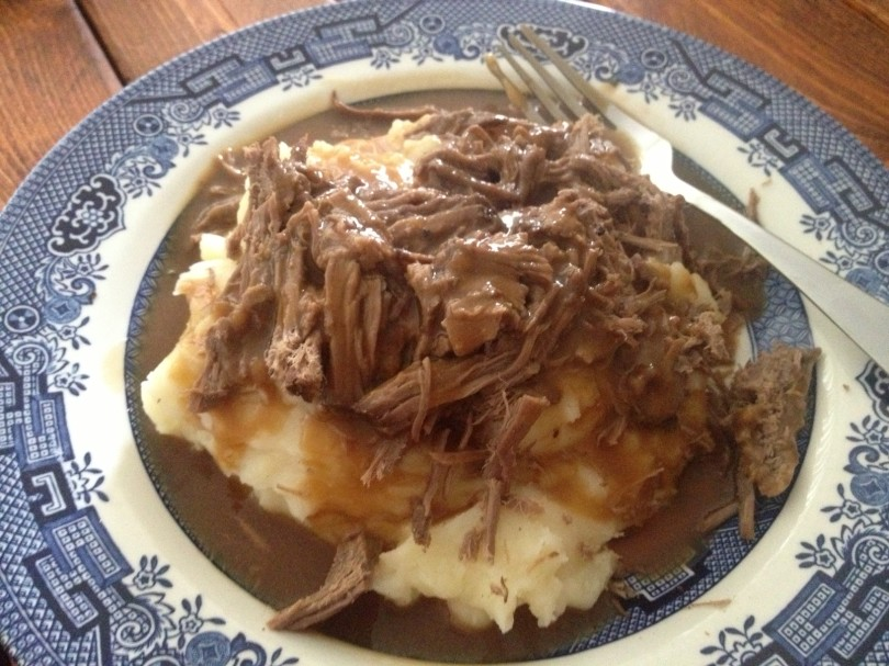 serve over mashed potatoes and top with gravy, this one is my husband's favorite